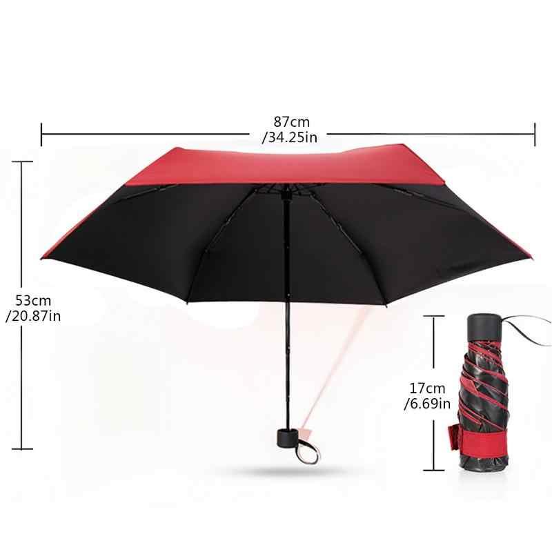 5-6 الأضلاع الصغيرة موضة مظلة قابلة للطي المطر النساء هدية الرجال جيب صغير المظلة الفتيات المضادة للأشعة فوق البنفسجية مقاوم للماء الأشعة فوق البنفسجية حماية دروبشيب