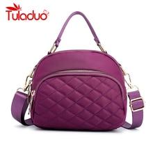 Waterproof Women Handbag Black Multi-pockets Womens Messenger Bag High Quality Durable Light Nylon Fabric Female