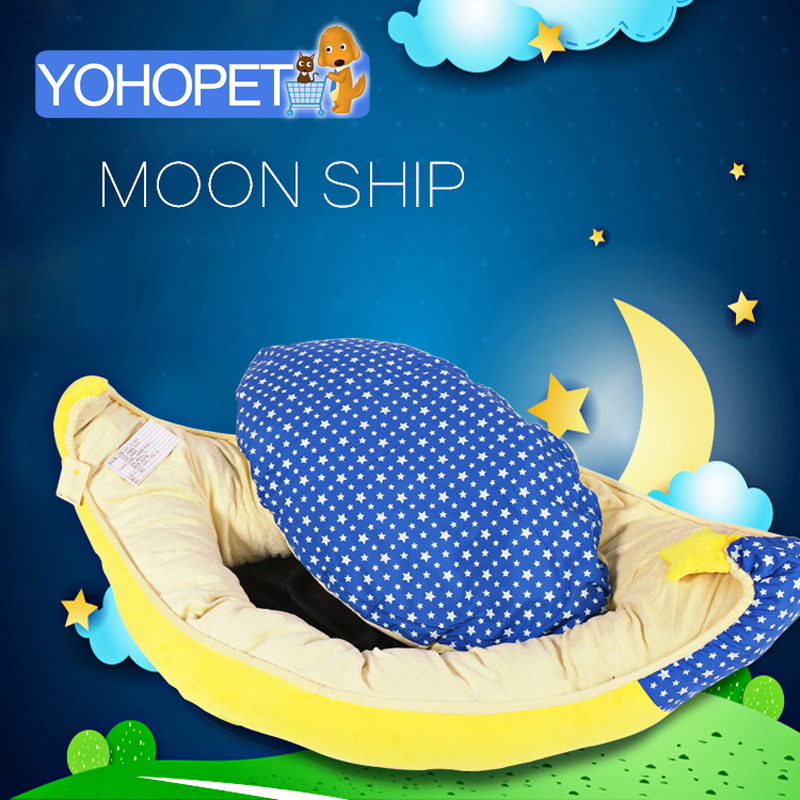 New Arrival Dual Purpose Cute Moon Boat Dog Beds For Small Dogs Japan Famous Brand Pet Bed For Dogs Soft House Dog Bed Sofa