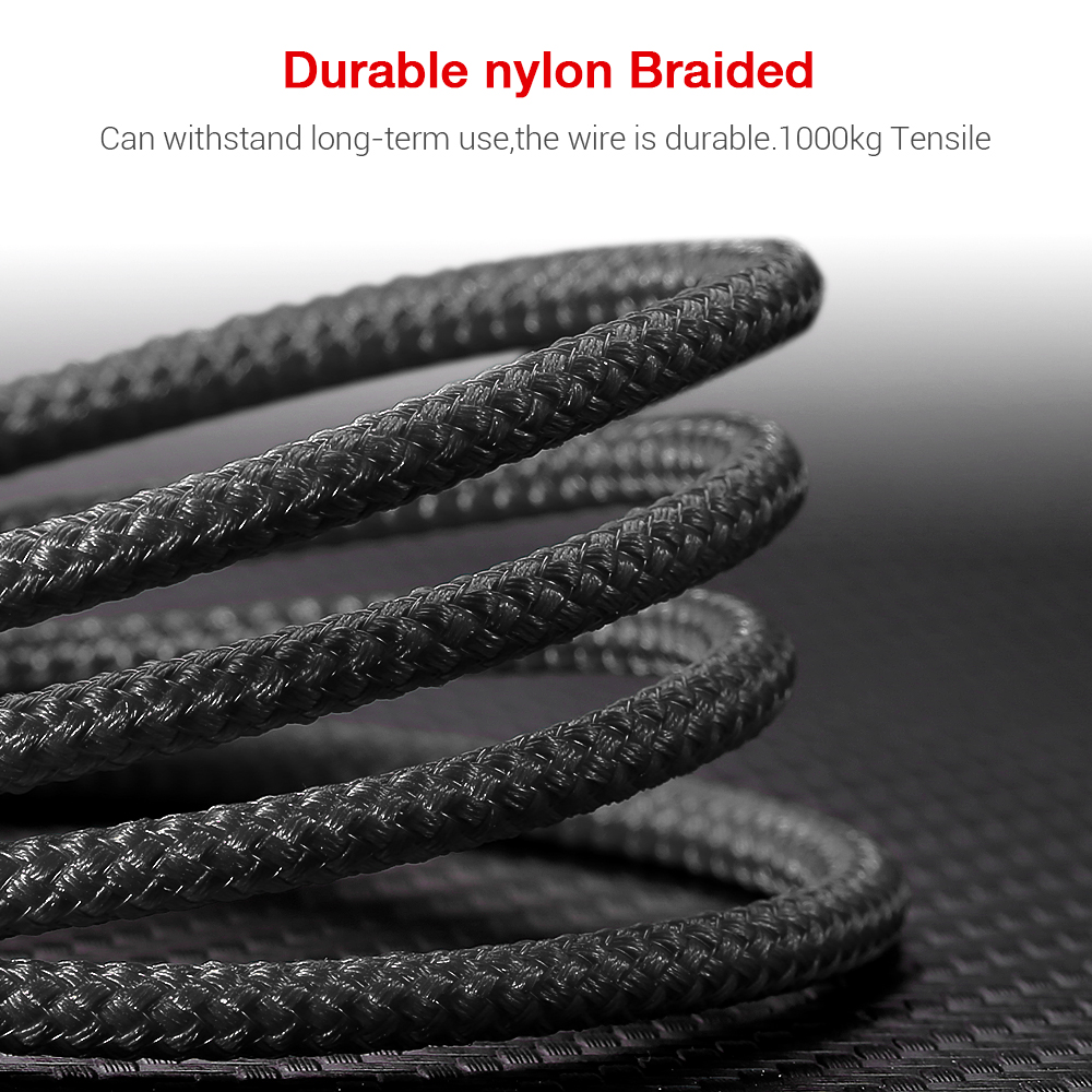 KISSCASS 3A Nylon Braided Micro USB Cable For Samsung Android Mobile Phone Chargers For Huawei Information Transfer For Xiaomi in Mobile Phone Cables from Cellphones Telecommunications