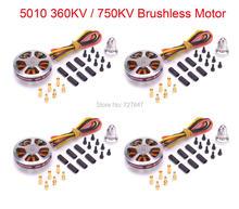 4 ADET 5010 360KV/750KV Yüksek Tork Fırçasız Motorlar ZD850 ZD550 ZD680 MultiCopter QuadCopter