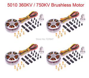 Image 1 - 4 PCS 5010 360KV / 750KV High Torque Brushless Motors For ZD850 ZD550 ZD680 MultiCopter QuadCopter