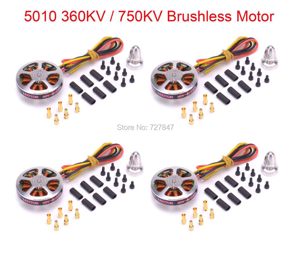 4 PCS <font><b>5010</b></font> 360KV / 750KV High Torque Brushless Motors For ZD850 ZD550 ZD680 MultiCopter QuadCopter image