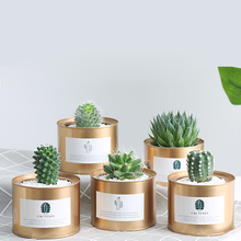 2018 ins de metal criativo vaso flor vaso jardim retro pastoral estilo pintura ferro recipiente armazenamento decoração do desktop