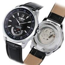 自動腕時計メンズ機械式時計自動巻男性はレトロな革男の時計日付腕時計トップブランドの高級時計