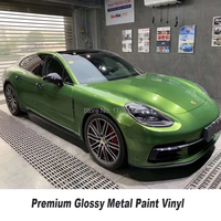 Newest green super glossy metallic wrapping film for High end car vinyl wrapping film glossy metal foil
