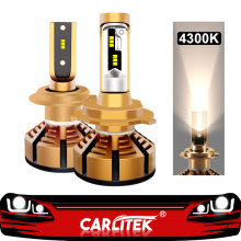 CARLitek 2Pcs 4300K H7 Led H4 Led H11 Car Headlights Bulb Kits with Lumileds ZES Chip 72W 12000LM H1 9005 9006 Auto Lamps(China)
