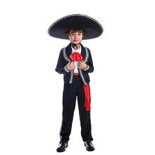 Новые традиционные мексиканские мариачи Amigo танцор для детей мальчиков фестиваль и костюмы для вечеринок