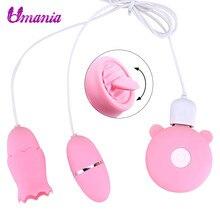 Tongue Licking Vibrator Pussy Clit Nipple Massage Vibrating Egg Female Masturbator Clitoris Stimulator Erotic Sex Toys For Women