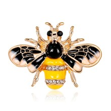 1420f70a888 Exquisite Alloy Painting Oil Bee Brooch Pin Scarf Clothing Decor Jewelry  Accessory