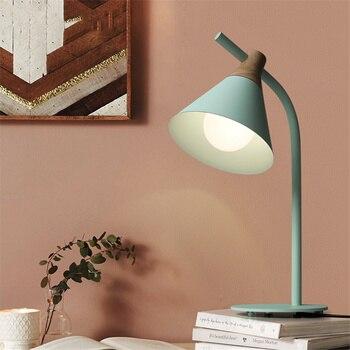 Nordic Creativity Led Children Eye Protect Study Table Lamp Office Bedroom Bedside Foyer Light Art  Desk Lamp