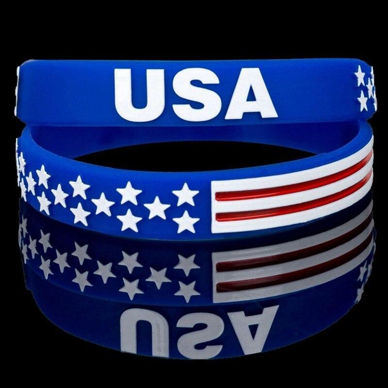 100 Pc Usa Stati Uniti Bandiera Americana Sottile Linea Rossa Braccialetti Della Polizia Nero In Diretta Importa Wristband Del Braccialetto Del Braccialetto Da Polso Bande Belle Arti