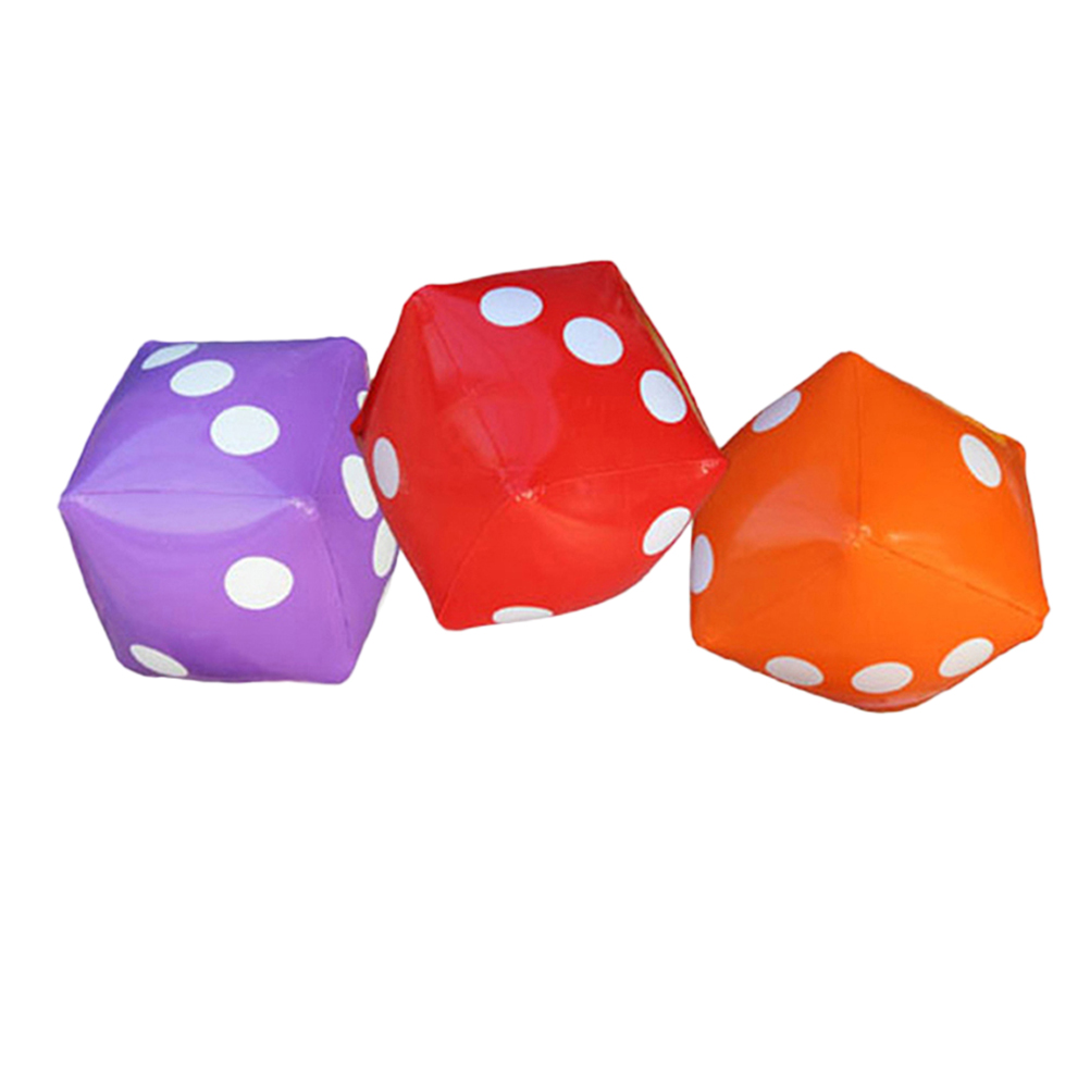 3pcs 35cm Big Educational Inflatable Pvc Dice Party Game Childrens Dice Toys Accessory For Pool Favors Home Decor Gifts Reasonable Price