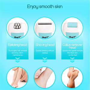 Image 3 - 3 in 1 Women Electric Epilator Shaver Rechargeable Depilador Lady Shaving Hair Removal Callus Remover Foot Pedicure Care Tool
