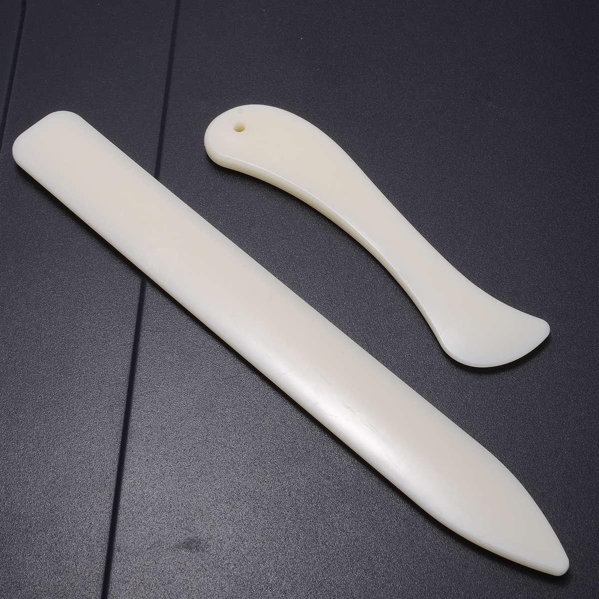 2 Sizes Handmade Leather Craft Trimming Tool Bone Leathercraft Edge Trimmers DIY Supplies For Working Cutting