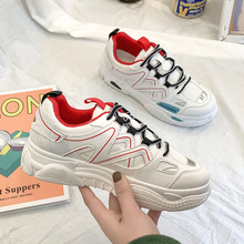 Platform Casual Shoes Women Woman Spring New Leisure Sneakers Thick Bottom Korean Fashion Tenis Feminino Zapatos De Mujer Mesh new fashion elevator height increasing casual shoes women slip on lazy korean thick bottom breathable mesh loafers zapatos mujer
