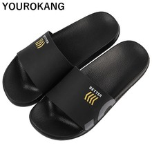Men Slippers Summer Beach Shoes Unisex Lovers Couple Footwear Outdoor Non-slip Male Casual Flip Flops Fashion Bathroom Sandals