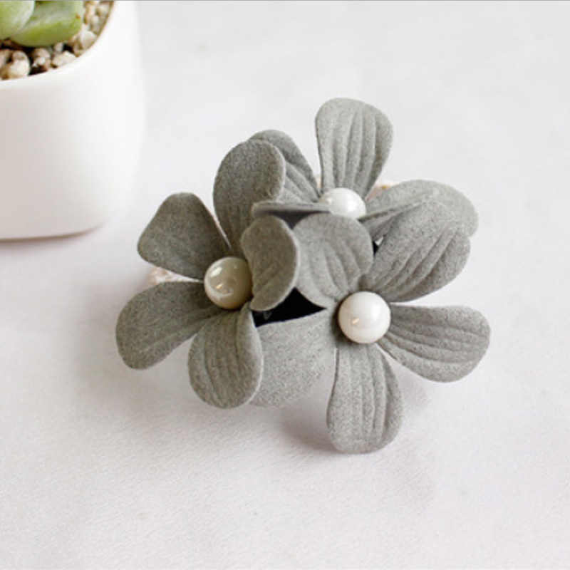 New Fashion Women Flower Pearl Ponytail Holder Elastic Hair-Band Hair Accessories Ropes Sweet Girls Hairband