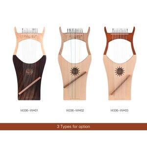 Image 5 - WH01 10 מחרוזת עץ נבל נבל ניילון מיתרי Rosewood Topboard גומי עץ קרש גב מחרוזת מכשיר עם לשאת תיק