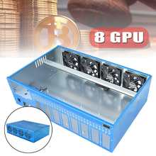 New 8GPU DIY Mining Frame Chassis PC Case Computer Case With