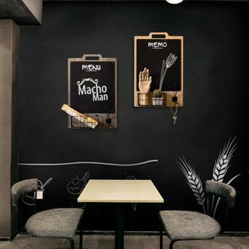 Retro Innovative Wall Decoration Blackboard Storage Hanging Message Board Tea Shop Coffee Shop Restaurant Wall Mount Decoration
