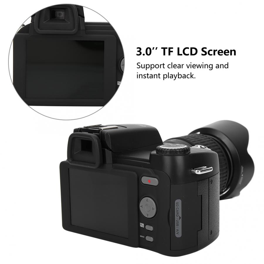 D7200 33MP Digital Camera DSLR 0 5X Wide Angle Lens 24X Telephoto Lens LED Light Hot