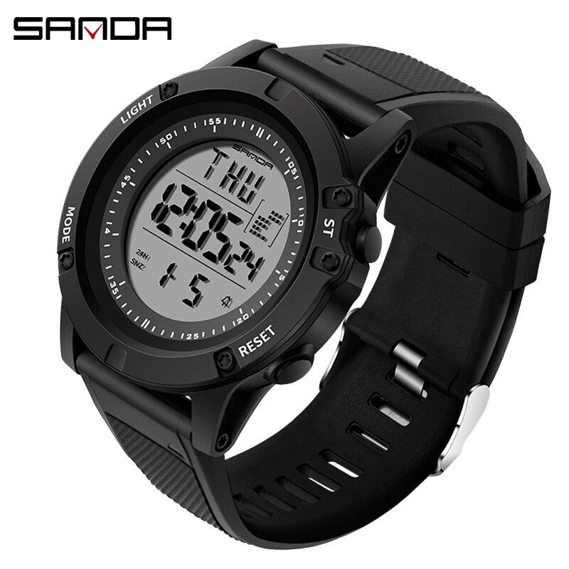 Montres hommes sport étanche S Shock LED montres numériques homme horloge chronographe Relogio Masculino reloj hombre 2019 Sanda 372|Montres sport| |  -