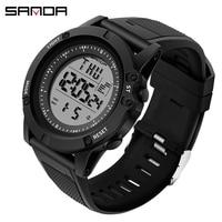 Sports Men's Watches Waterproof S Shock LED Digital Watches Male Clock Chronograph Relogio Masculino reloj hombre 2019 Sanda 372