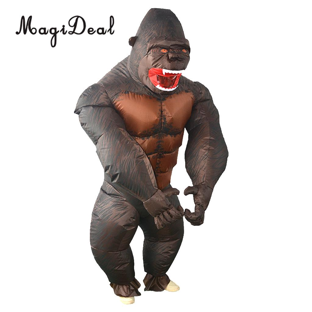 MagiDeal Funny Inflatable Gorilla Costume Masquerade Cosplay Party Fancy Dress Suit for Halloween Cosplay Party