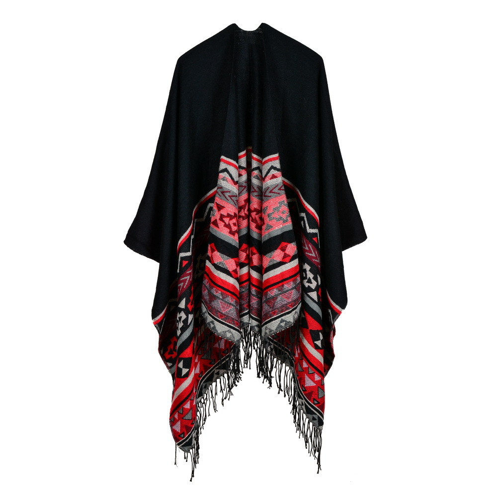 Bohemian Cashmere-like Shawls With Lengthened Cloaks On Both Sides Scarf Women  Abrigos Mujer Invierno 2019 Luxury Brand