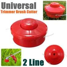 Универсальный садовый триммер для травы, головка для кустореза, 2 провода, косилка, триммер для стрижки, садовый кусторез, головка красного цвета