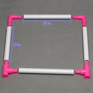 Image 5 - רקמת מסגרת מעשי אוניברסלי קליפ פלסטיק צלב תפר חישוק Stand מחזיק תמיכה מתלה Diy קרפט כף יד כלי