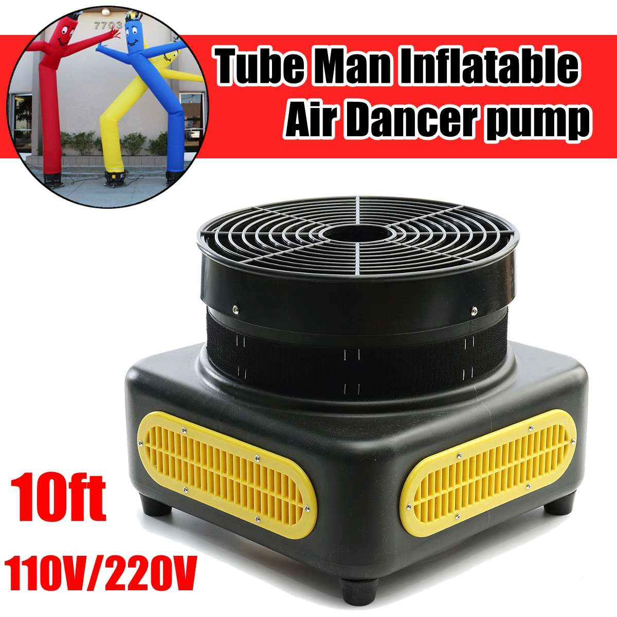 Wind power Black color Metal Air pump blower Used for Tube Man Inflatable dancer can choose 220V/110VWind power Black color Metal Air pump blower Used for Tube Man Inflatable dancer can choose 220V/110V