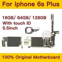 16 Гб/64 Гб/128 ГБ для iphone 6s плюс материнская плата с сенсорным ID Оригинал разблокирован для iphone 6s плюс логические платы с IOS