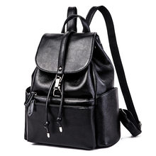 New Real Genuine Leather Women Backpack Rucksack Woman Korean Style Ladies Strap Laptop Bag Daily Backpack Girl School Bags C562(China)