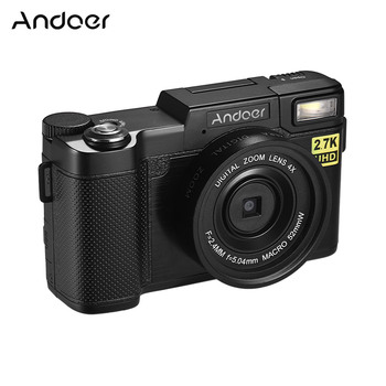 Andoer Full HD 24MP Digital Camera Camcorder 2.7K Resolution Anti-shaking 4X Digital Zoom WiFi Connection Retractable Flashlight
