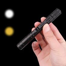 Медицинский СВЕТОДИОДНЫЙ светильник-ручка для первой помощи, белый и желтый портативный светильник фонарь-ручка для диагностики врача и медсестры с зажимом, светодиодный светильник-вспышка