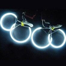 4 قطعة سيارة الملاك النسر عيون مجموعة إضاءة كشافات بيضاء لسيارات BMW E36 3 E38 7 E39 5 E46 131*2 + 146*2 CCFL مرنة أنبوب المصباح