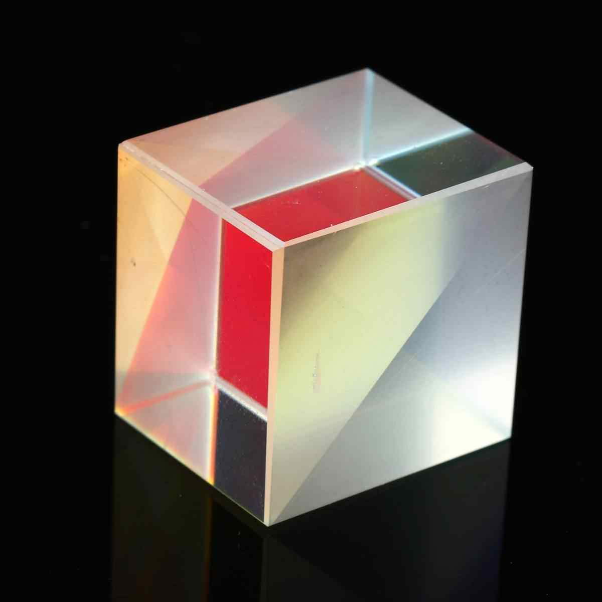 4 шт. 20*20*17 мм кубическая Призма дефектных крест дихроическое зеркало Combiner Splitter Декор прозрачный МОДУЛЬ оптический стекло класса игрушки