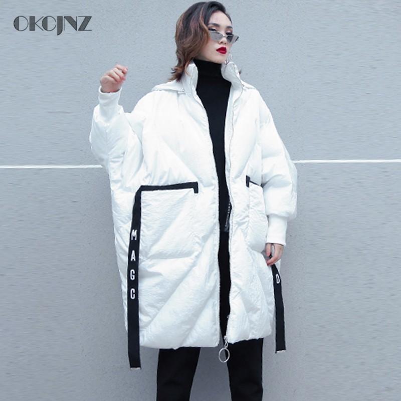 Parka Coton 2018 Chaud Okq039 Femme Vêtements white Matelassé Veste Oversize Coréen Lâche Neige Manteau Hiver Porter Femmes Outwear Pardessus Black qY8WIw7