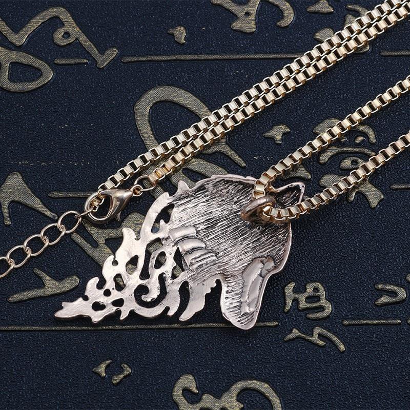 Vintage Wolf Pendant Necklace
