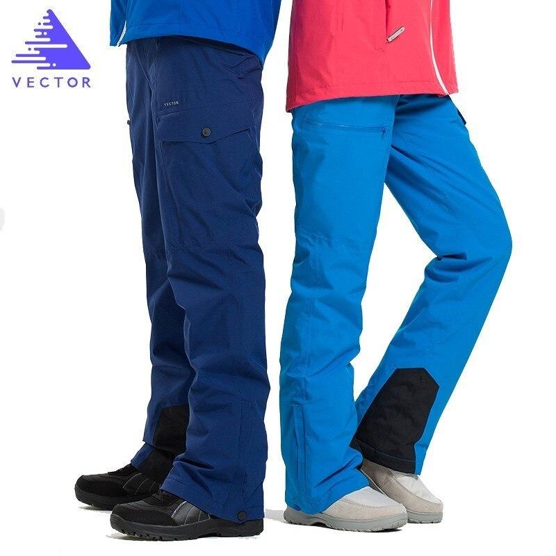 Pantalon de Ski Extra épais salopette Sport de neige chaud hommes pantalon d'hiver femmes combinaison de Ski Snowboard vêtements de plein air imperméable 2019 nouveau - 2