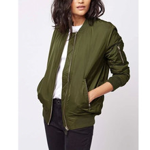 Women Padded Coat Basic Jackets Spring Casual Stand Collar D