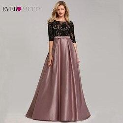 Вечерние платья Ever Pretty EP07866 2020, элегантные сексуальные вечерние платья а-силуэта с круглым вырезом и кружевным бантом, контрастных цветов