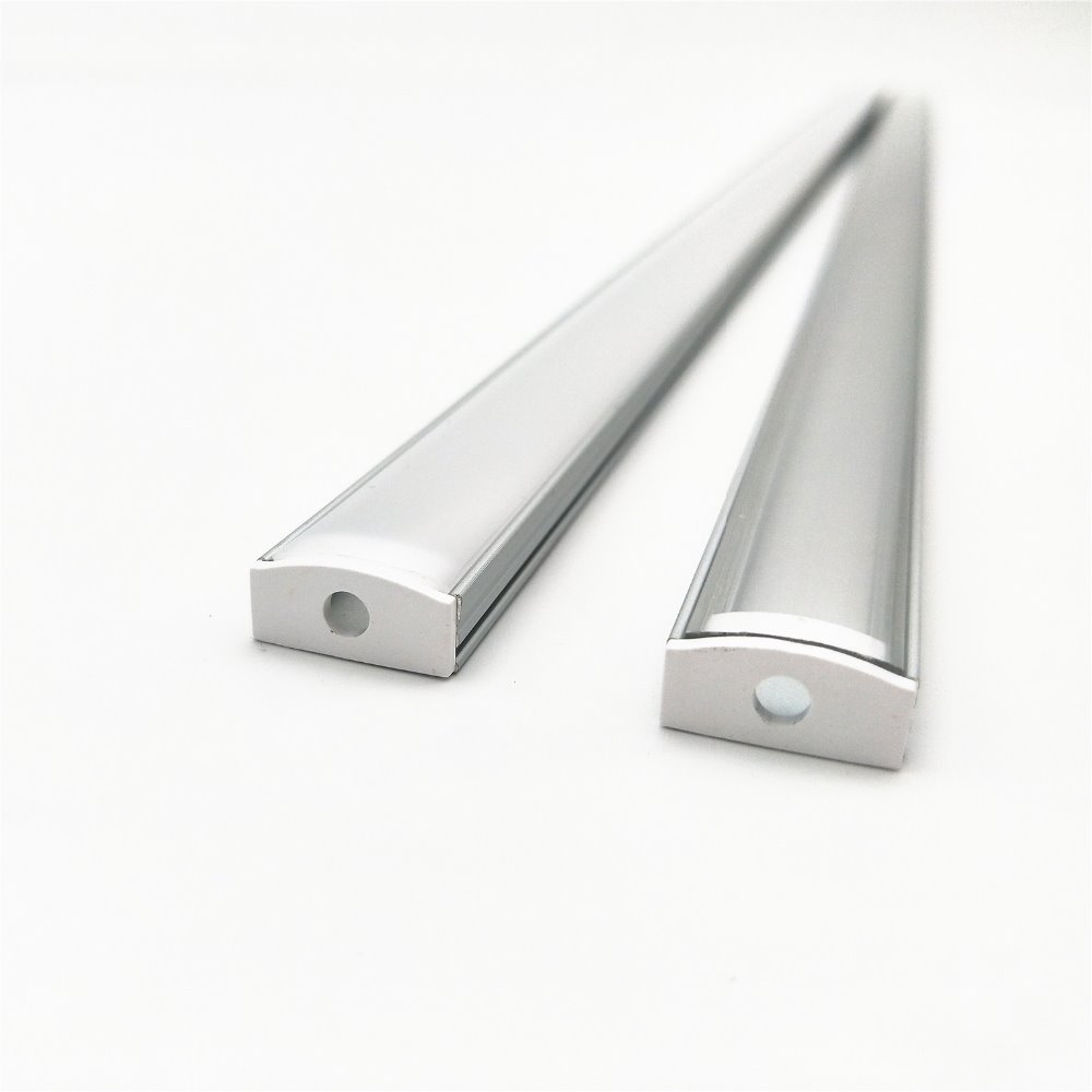 10 100PCS lot 40in 1m led aluminium profile 12mm pcb 5050 3528 strip flat aluminum housing