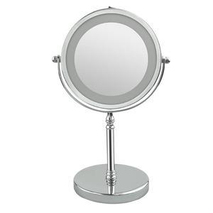Image 2 - Espejo de maquillaje portátil con luz LED, 7 pulgadas, 10 aumentos, doble cara, 360 grados, giratorio, herramienta cosmética