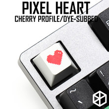 Novelty cherry profile pbt keycap for mechanical keyboards Dye Sub legends pixel heart red light grey(China)