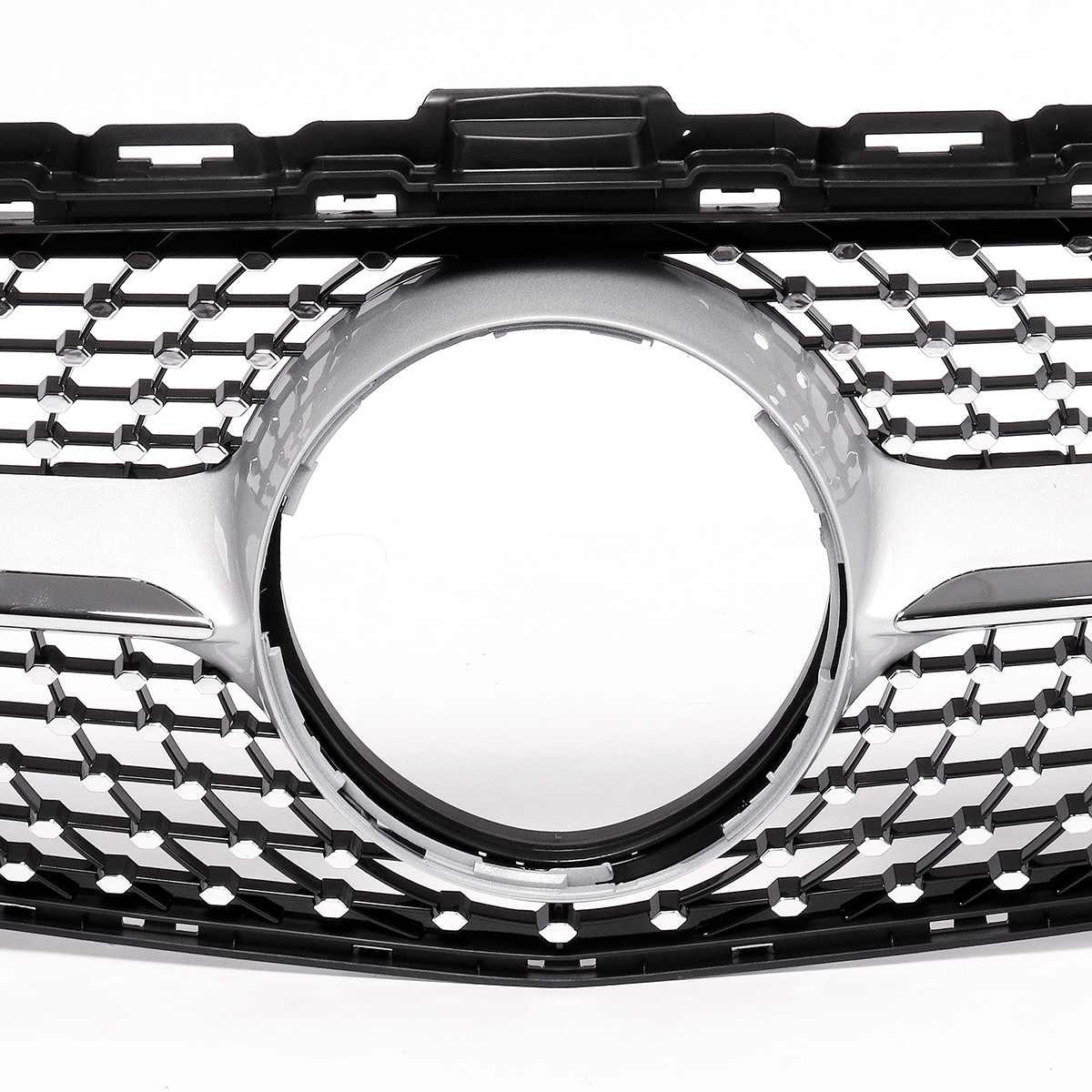 1x Grille de calandre de Style diamant avant de voiture pour Mercedes pour Benz C classe W205 C200 C250 C300 C350 2015-18 sans caméra - 5