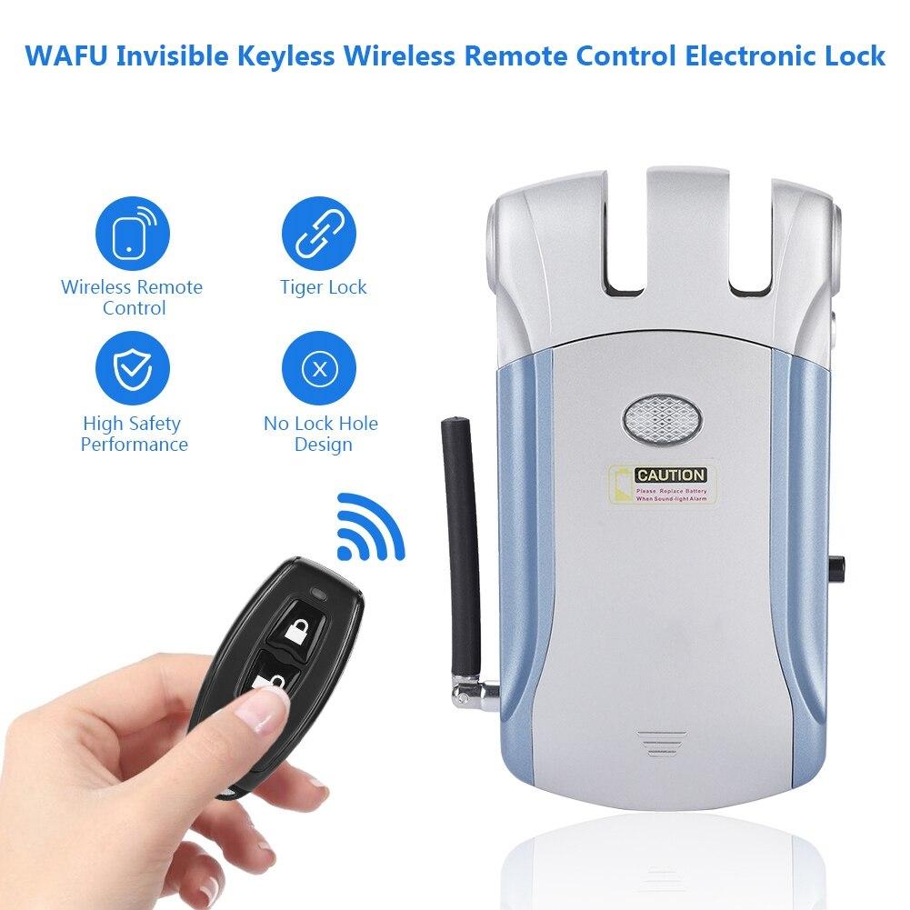 WAFU Invisible sans clé télécommande sans fil serrure électronique 2019 nouveau