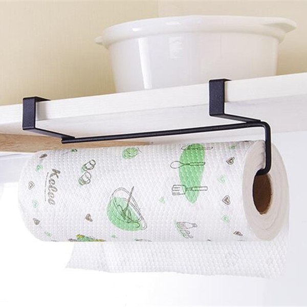 Paper Holder Hanger Tissue Roll Towel Rack Bathroom Toilet Sink Door Hanging Organizer Storage Kitchen Holder Rack